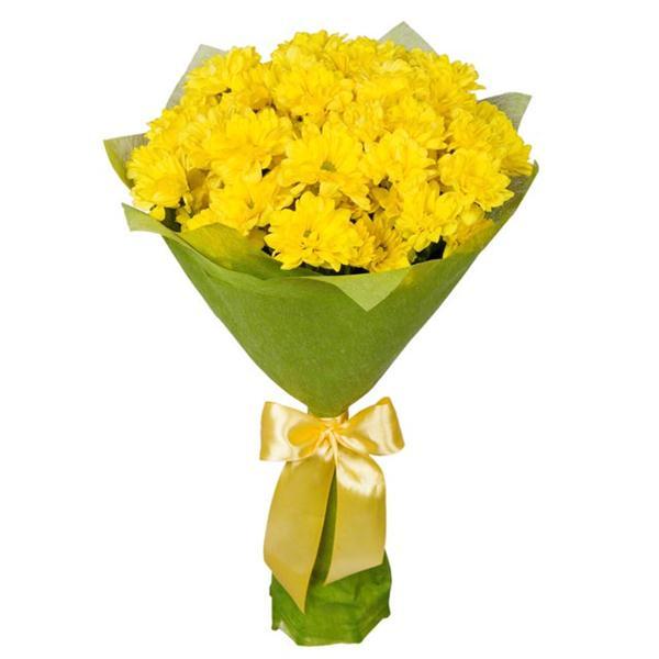 Bouquet of 11 Yellow Chrysanthemum
