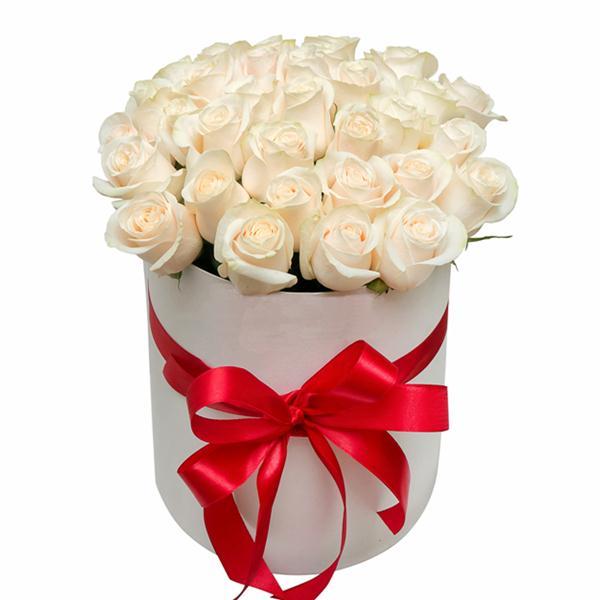 Boxed weiße Rosen